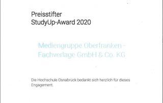 StudyUP-Award 2020 - Fachverlage stiften Preis für Abschlussarbeit