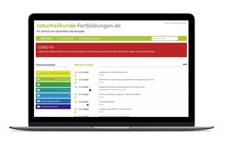 naturheilkunde-fortbildungen Datenbank